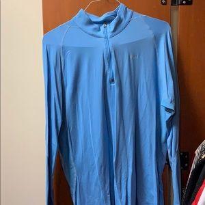 Blue nike 3/4 zip long sleeve